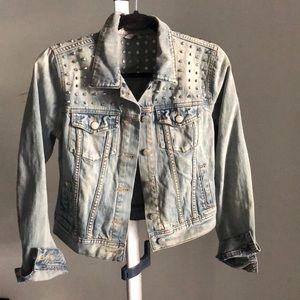 NEW ARITZIA denim jacket with rock stud detailing
